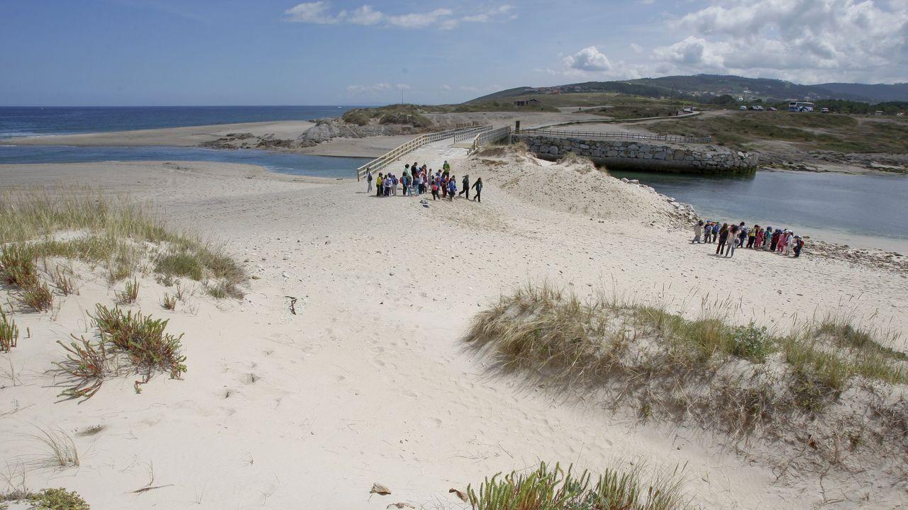Playa de Baldaio, en Carballo