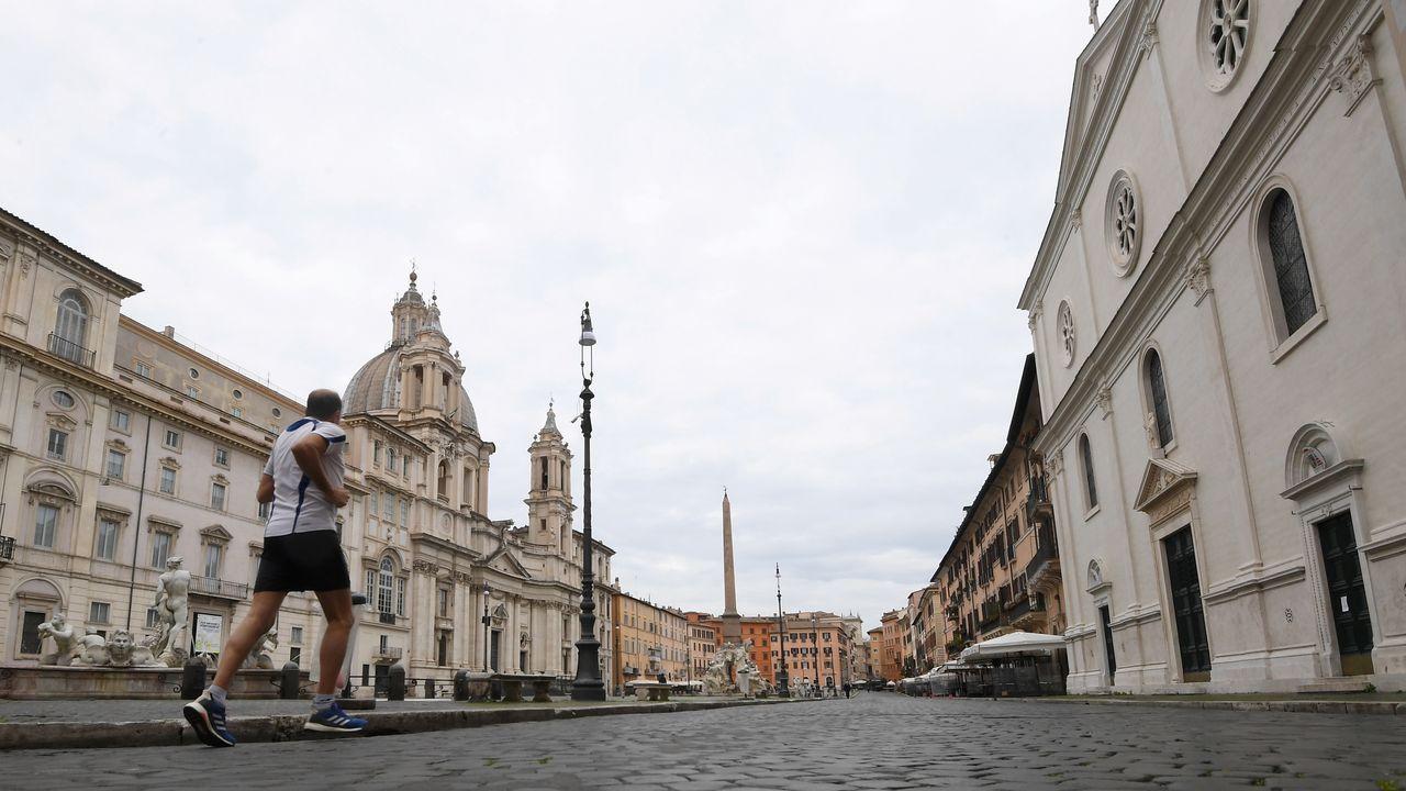 Plaza Navona en Roma.