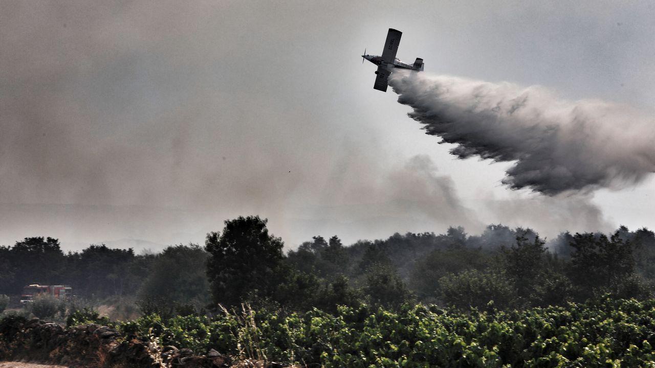 Incendio en la comarca de Monterrei, en Ourense.Incendio en la comarca de Monterrei, en Ourense