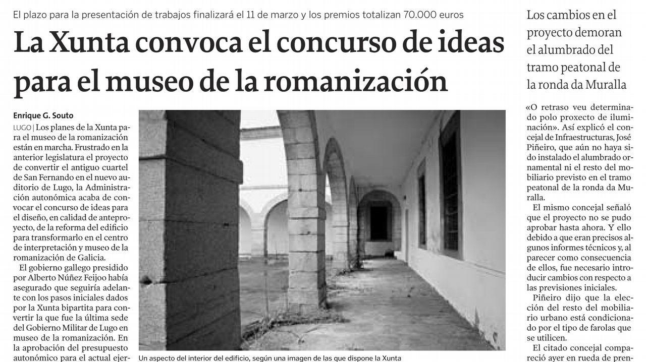 Página de La Voz de Galicia del 23 de enero del 2010