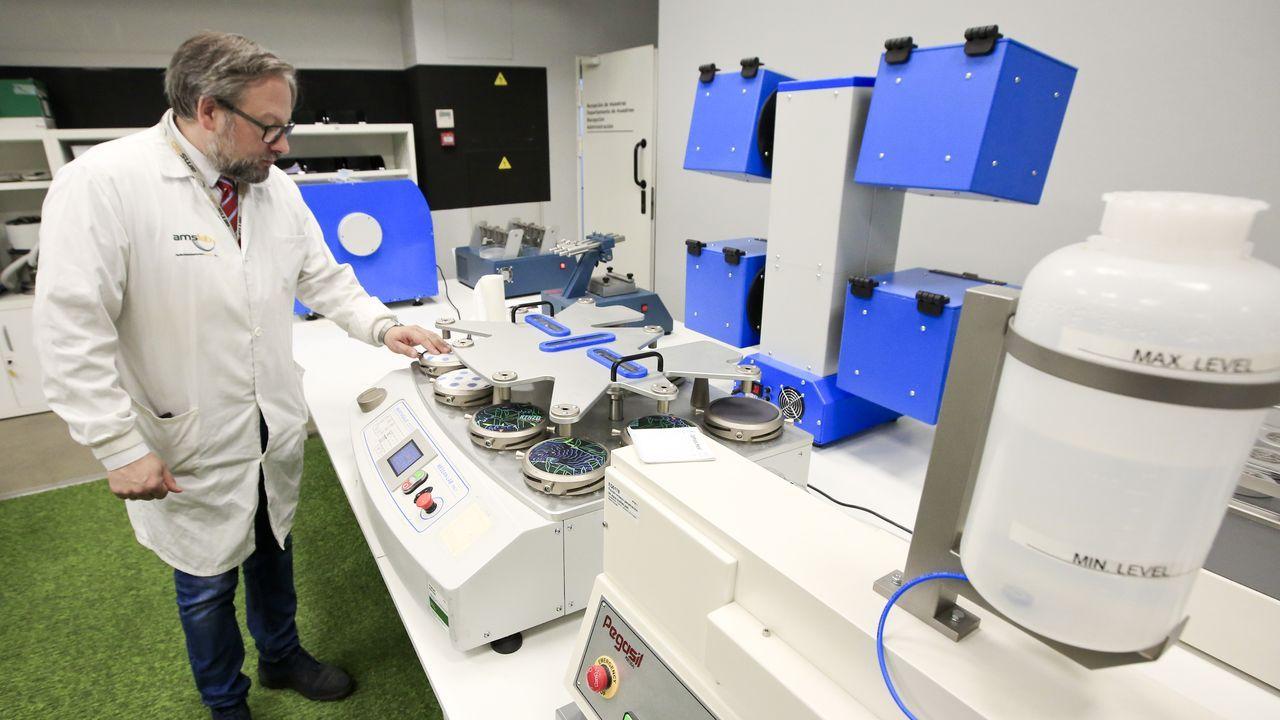 Sala de análisis físicos de prendas en Amslab