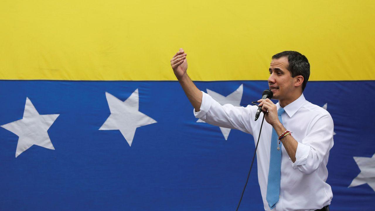 Guaidó, durante una manifestación en Caracas el pasado 10 de marzo