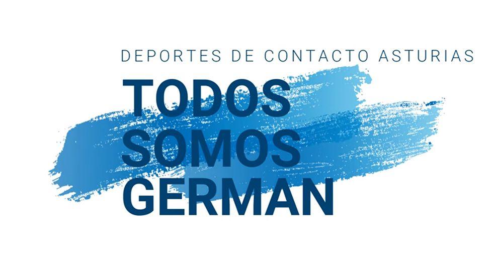 El combate más polémico del año en imágenes.Cartel de apoyo a Germán.