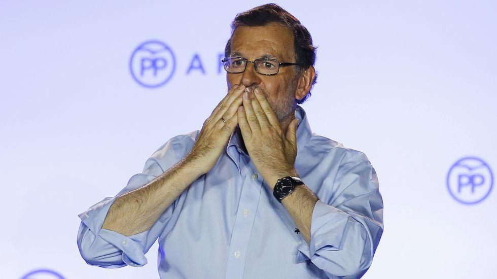 Rajoy: «Habéis tenido fe en la victoria»