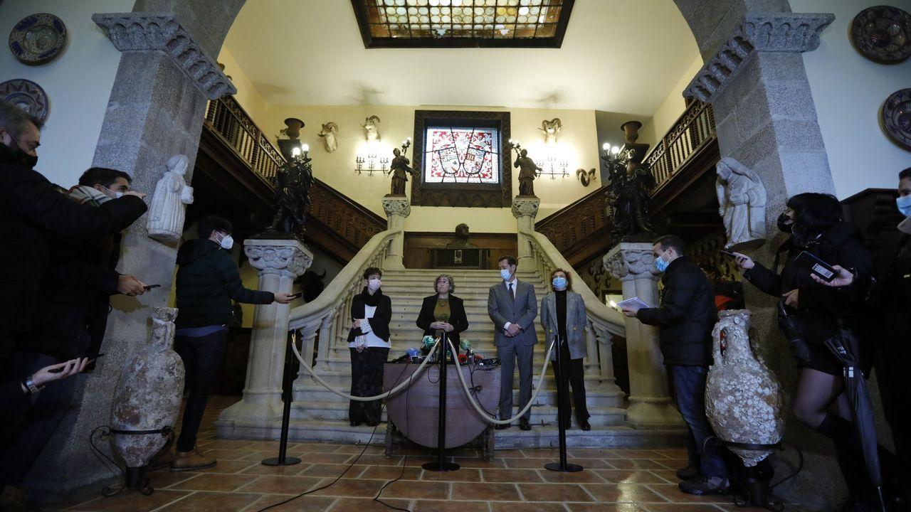Imagen del 10 de diciembre. Ese día el Estado se hizo formalmente con el pazo tras la ejecución de la sentencia que le quitó la propiedad a la familia Franco