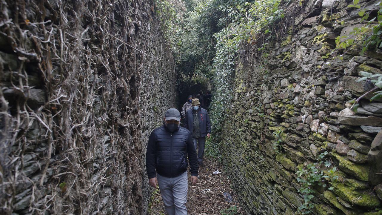 Entre as zonas que visitaron está o barrio do Carmen