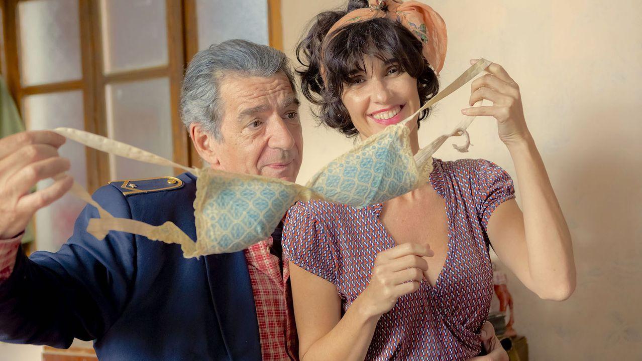 Paz Vega, con el actor Miki Manojlovic, que en el filme interpreta al maquinista
