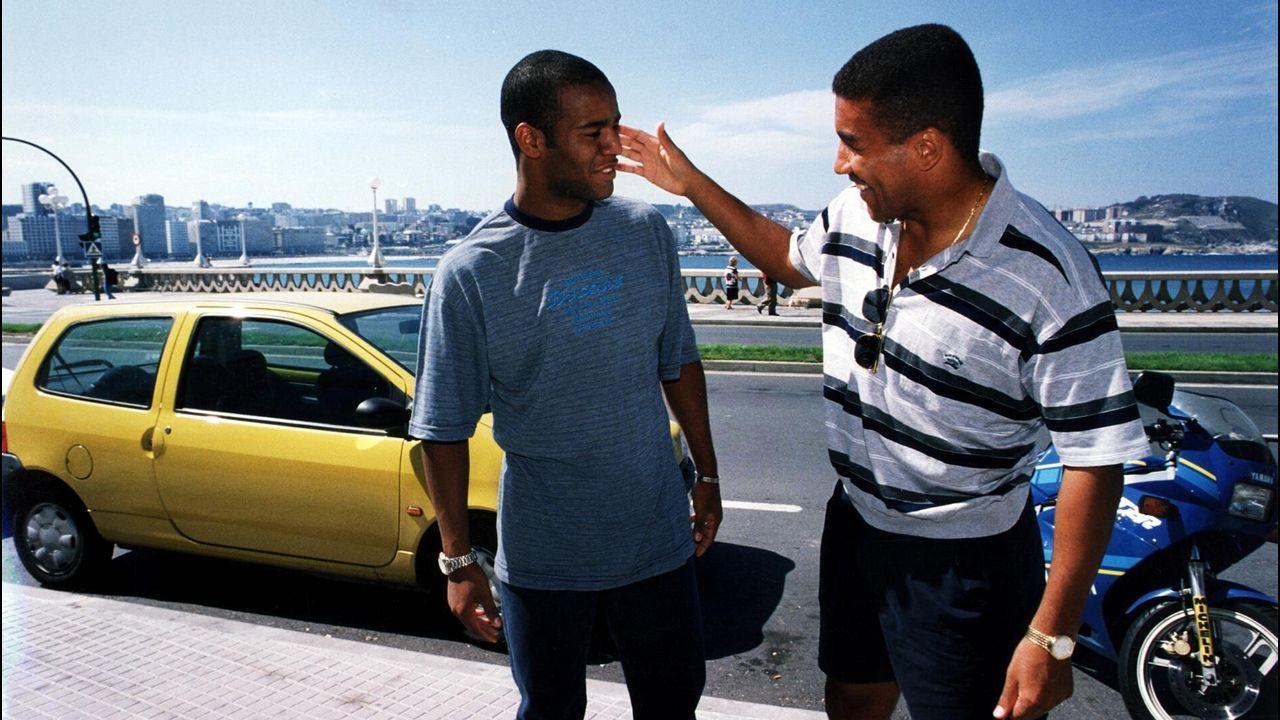 Mauro Silva y Flavio Conceiçao en A Coruña