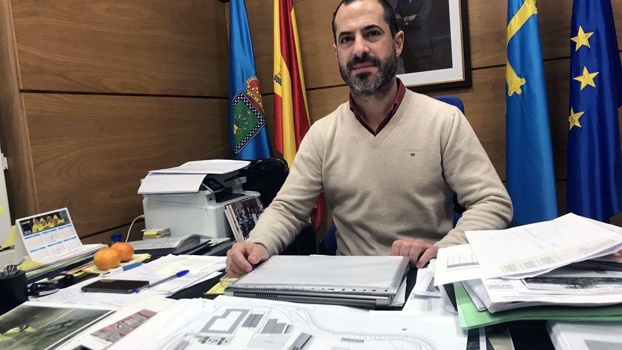 El alcalde de Siero, Ángel García.