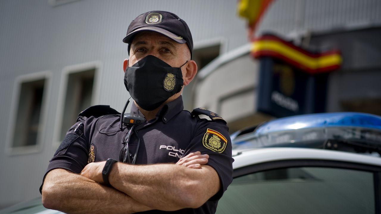 El inspector Álvarez de Cascos dirige el servicio de radiopatrullas de A Coruña