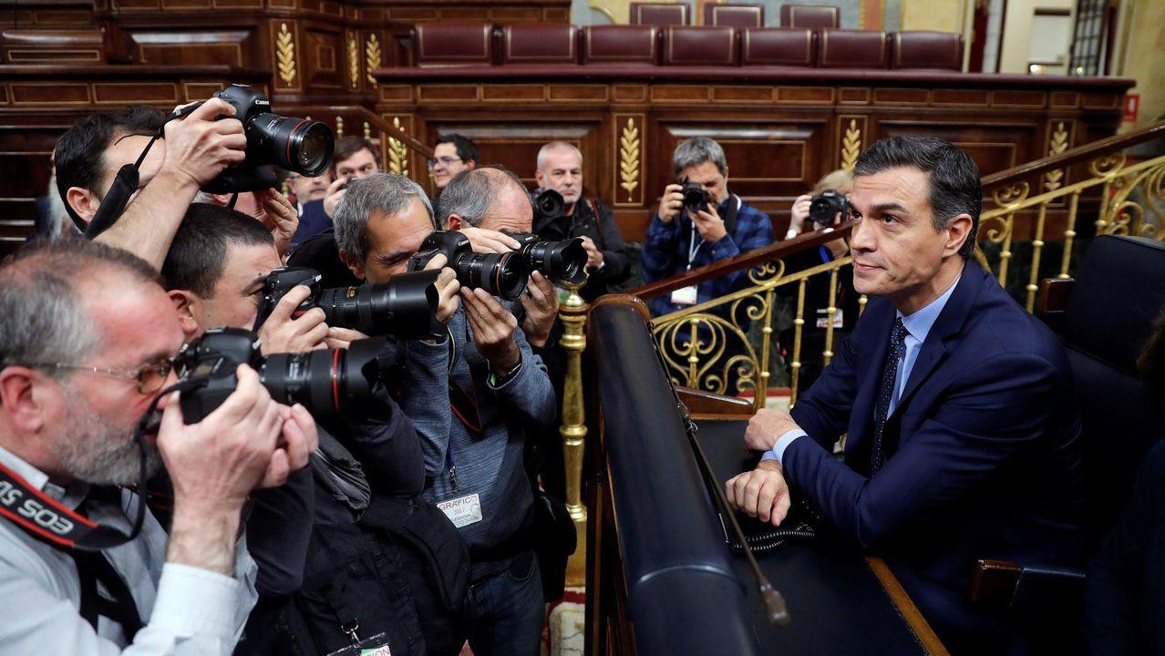 El presidente del Gobierno en funciones, Pedro Sánchez,el 3 de diciembre al inicio de la sesión constitutiva del Congreso de los Diputados