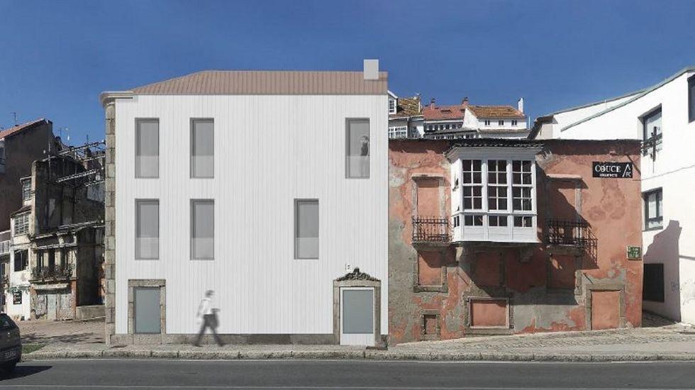 Así serán los próximos edificios Rexurbe de Ferrol Vello.La muestra «Arquitectura da auga» se inauguró este jueves en la sede de Didac