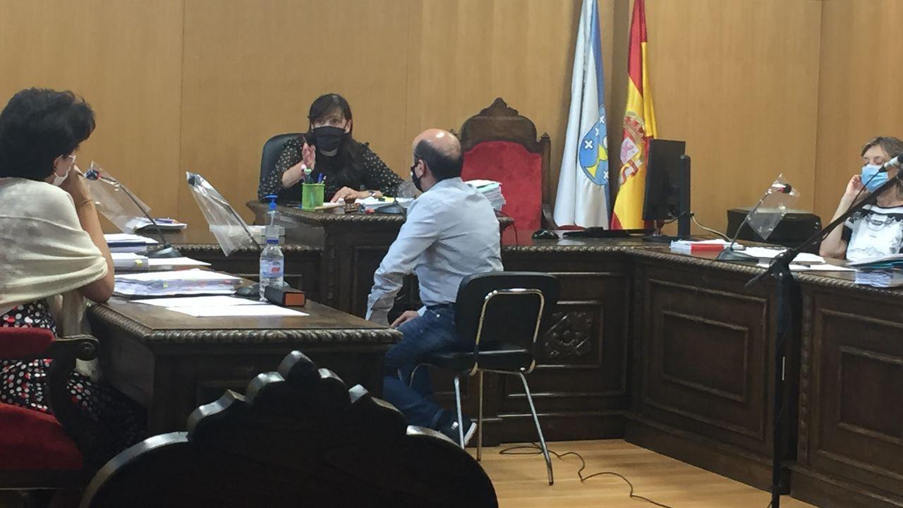 El acusado durante su declaración