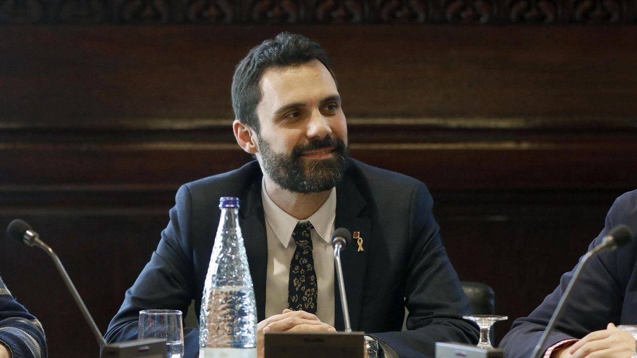 Roger Torrent (1979); Pere Aragonés (1982); Sergi Sabriá (1975); Elsa Artadi (1976)