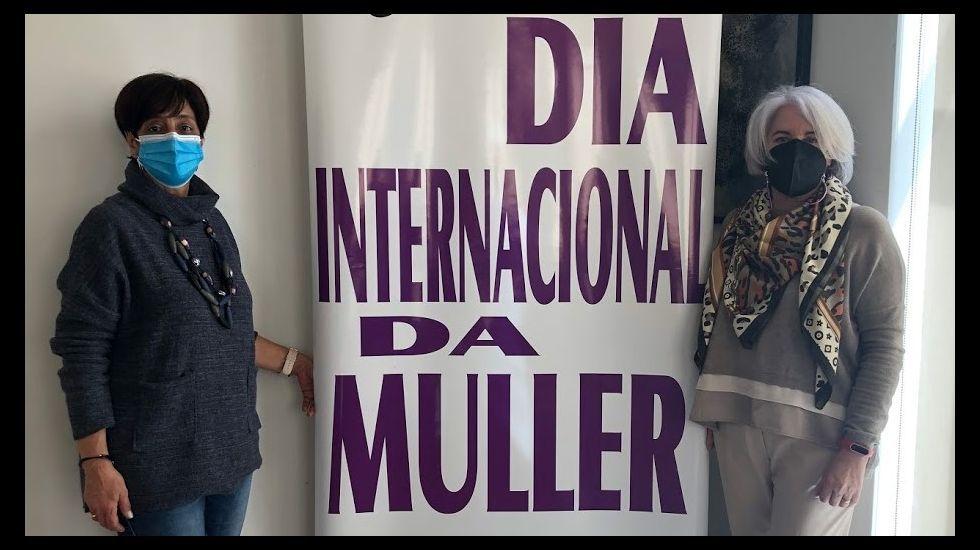 Gloria Prada, a la izquierda, y Margarita López, en la presentación de los actos