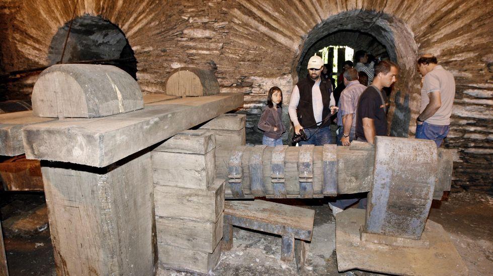 Mazo para trabajar el hierro en la ferrería de Seoane do Courel