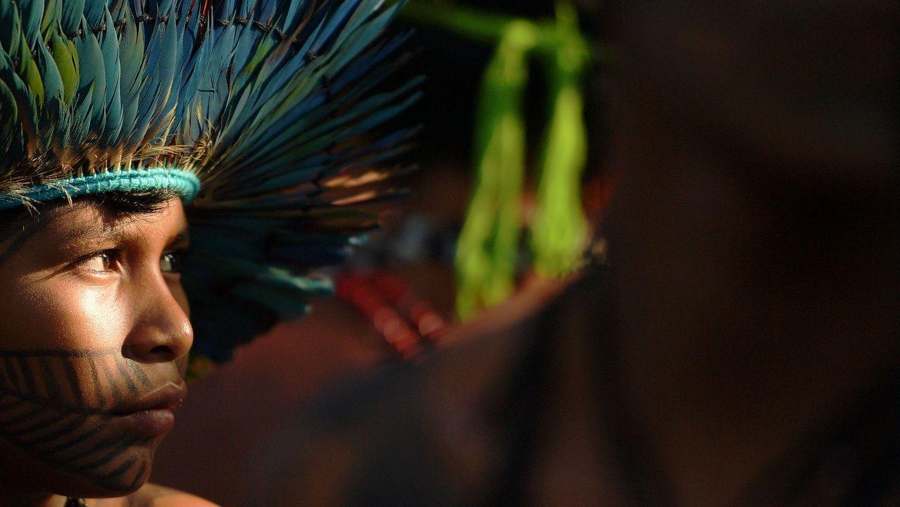 Un niño de la tribu Munduruke, en Brasil