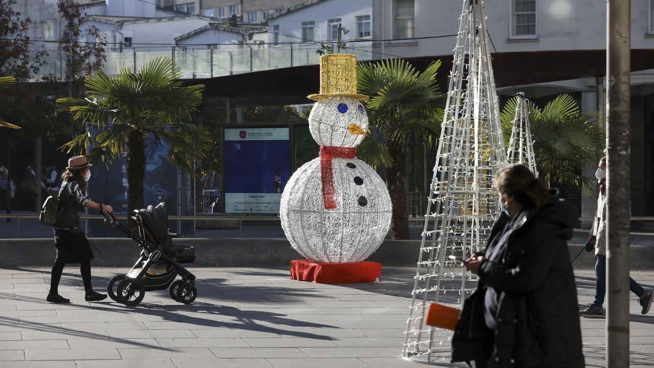 Luces de Navidad instaladas en Santiago