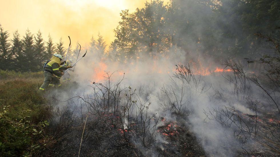 Imagen de archivo de un incendio forestal este verano en Monforte