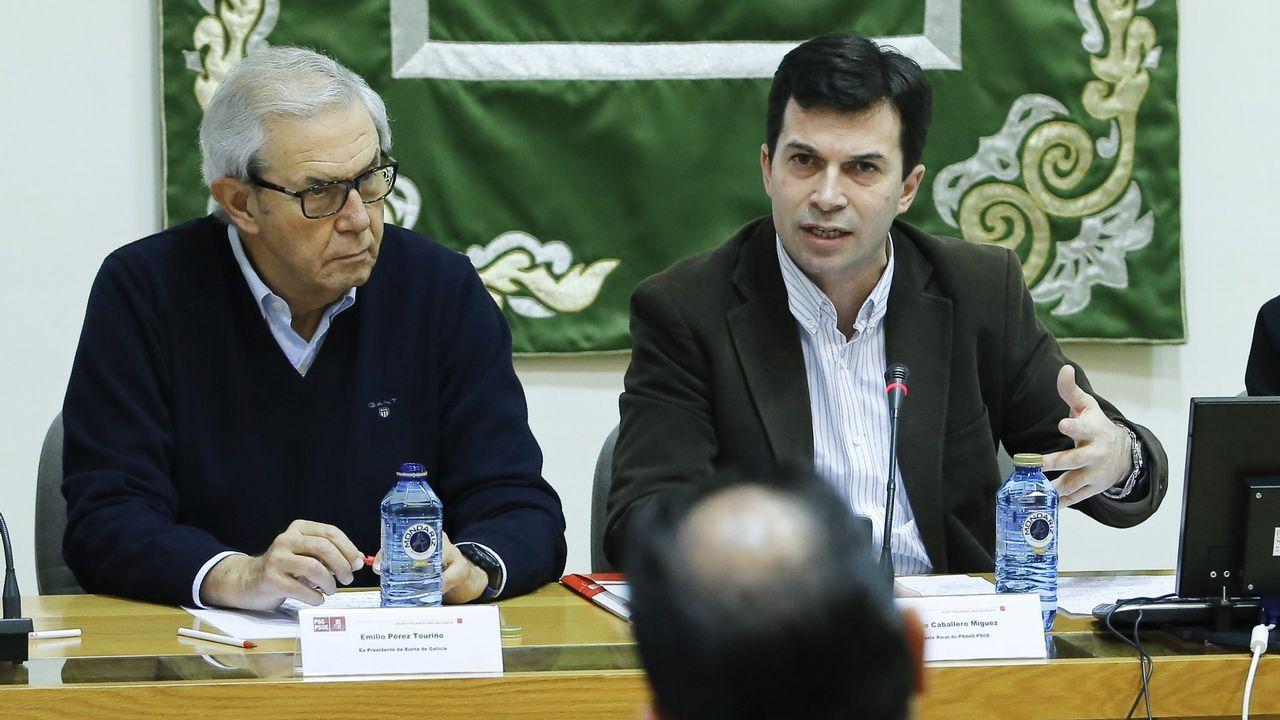 Emilio Pérez Touriño junto a Gonzalo Caballero