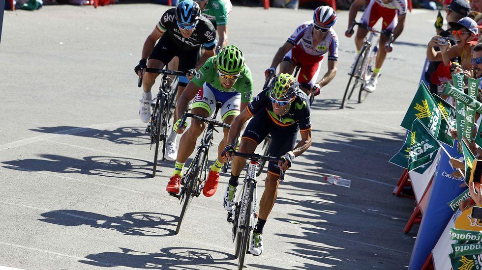 La etapa reina de La Vuelta, en fotos.Chaves y Kruijswijk, en plena ascensión