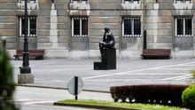 Vista de la plaza del Carbayón, en el centro de Oviedo, junto al teatro Campoamor,