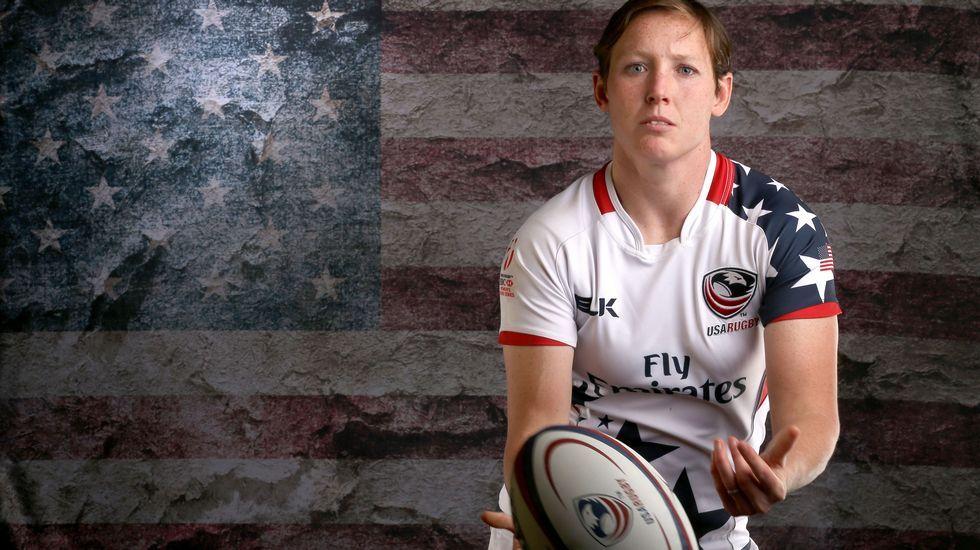 La jugadora de rugby Jillion Potter