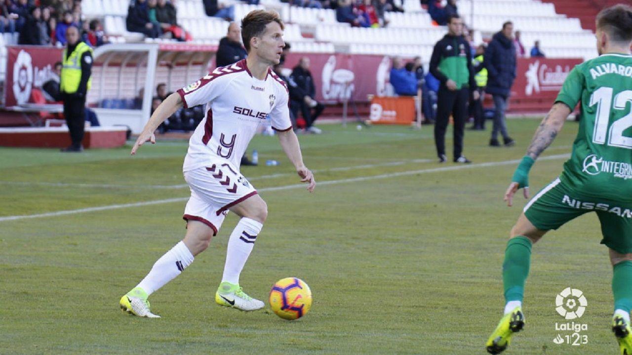 Susaeta en el Albacete-Sporting de la primera vuelta