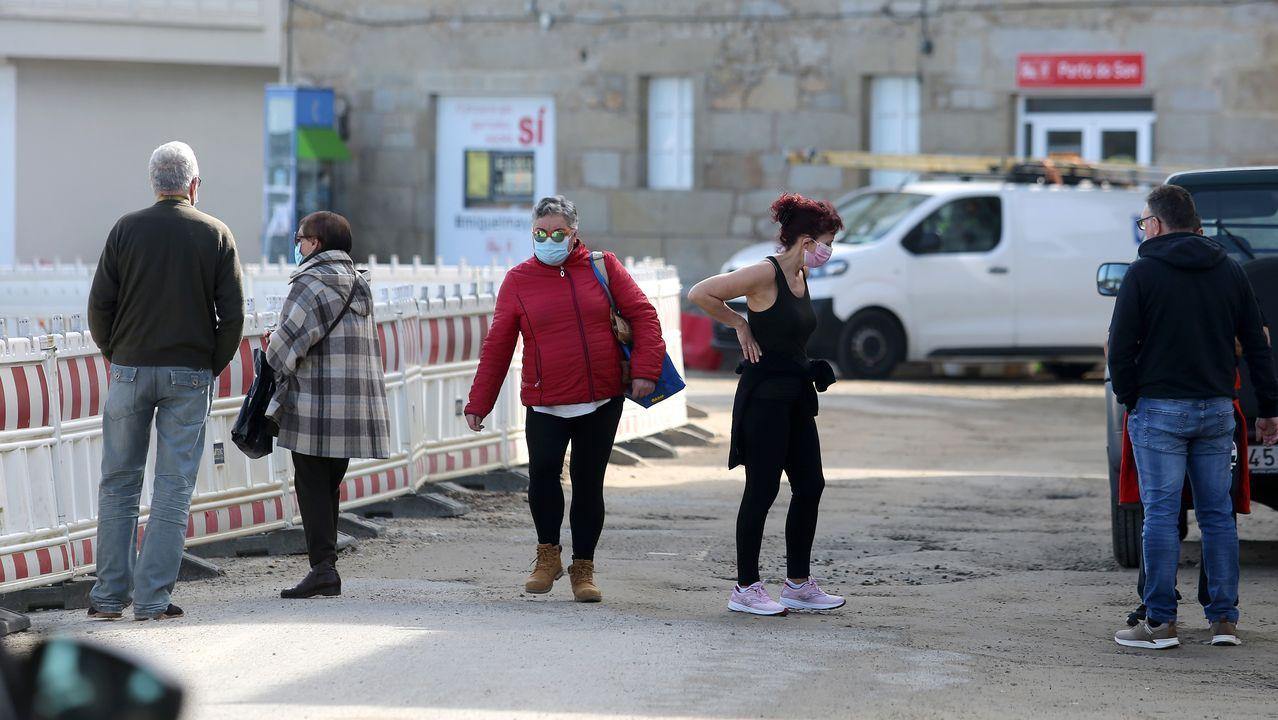 Imagen de ayer en Porto do Son, un concello en el que se han registrado 16 contagiados en dos semanas