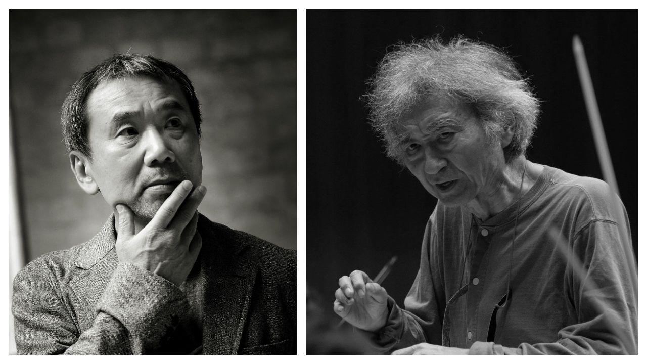 Maristas se empapa de escritoras gallegas.El escritor Haruki Murakami y el director de orquesta Seiji Ozawa