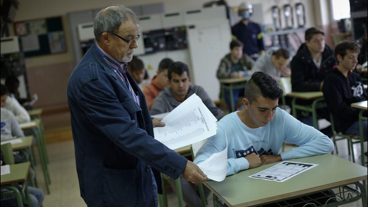 Centro penitenciario de Villabona.Imagen de la concentración de los trabajadores de ITV