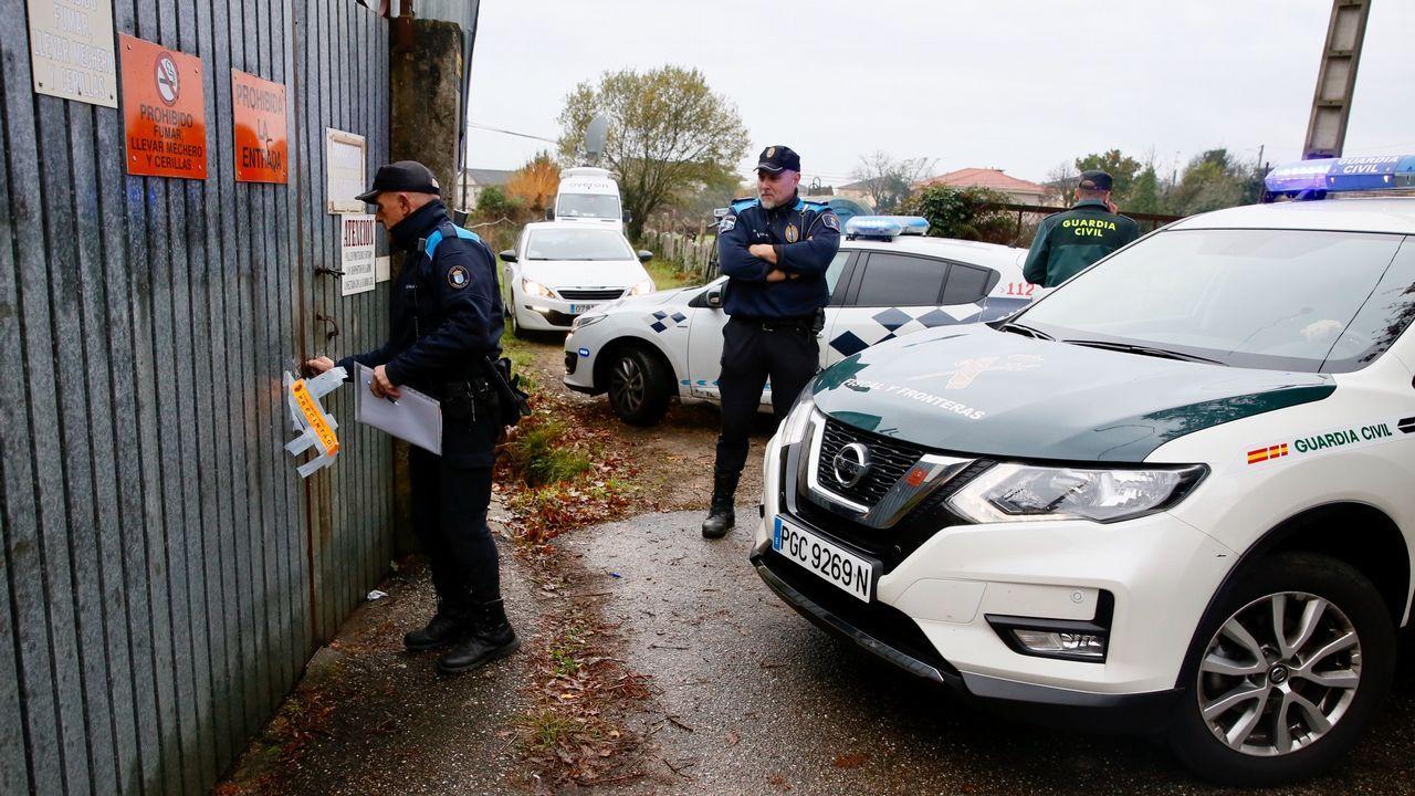 Nueva revisión en la pirotecnia ilegal de Tui en busca de más explosivos