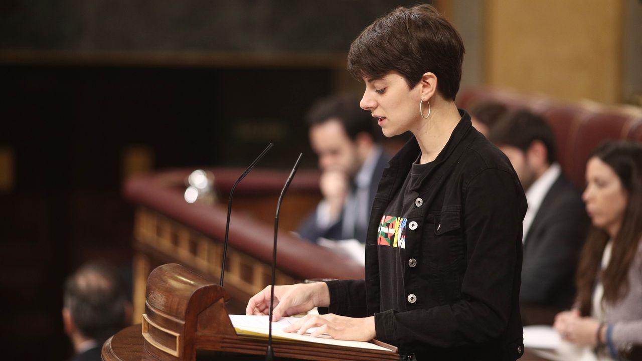 La diputada de ERC y miembro más joven del Congreso, Marta Rosique, durante su intervención en la sesión