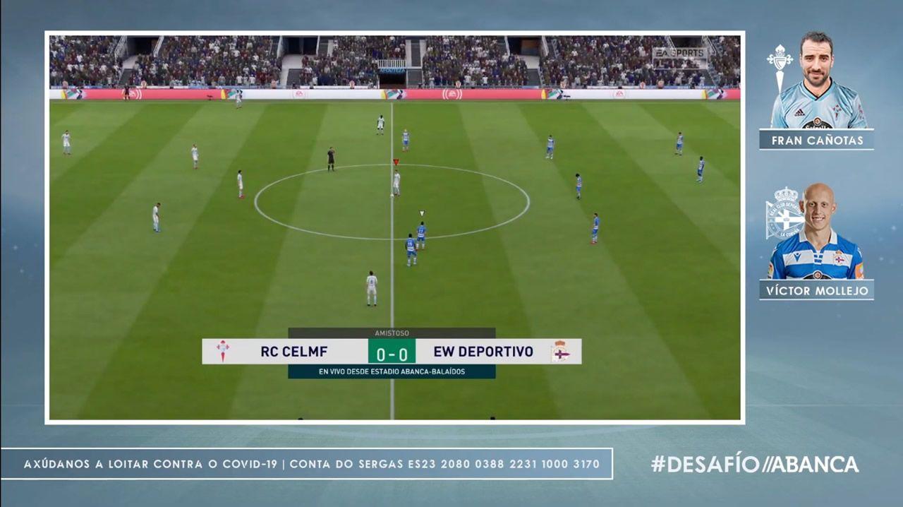 Sigue la final entre Celta, Dépor y Lugo del torneo solidario de FIFA de Abanca.O exfutbolista e adestrador Luis Milla. no vídeo que enviou ao colexio Torre de Lemos