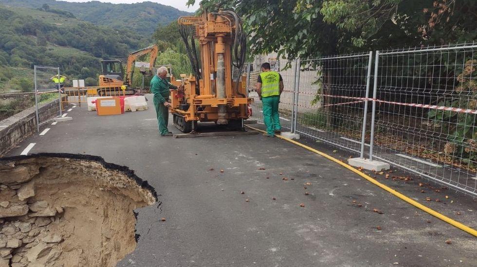 Inicio de las obras de reparación del tramo afactado por el desplome