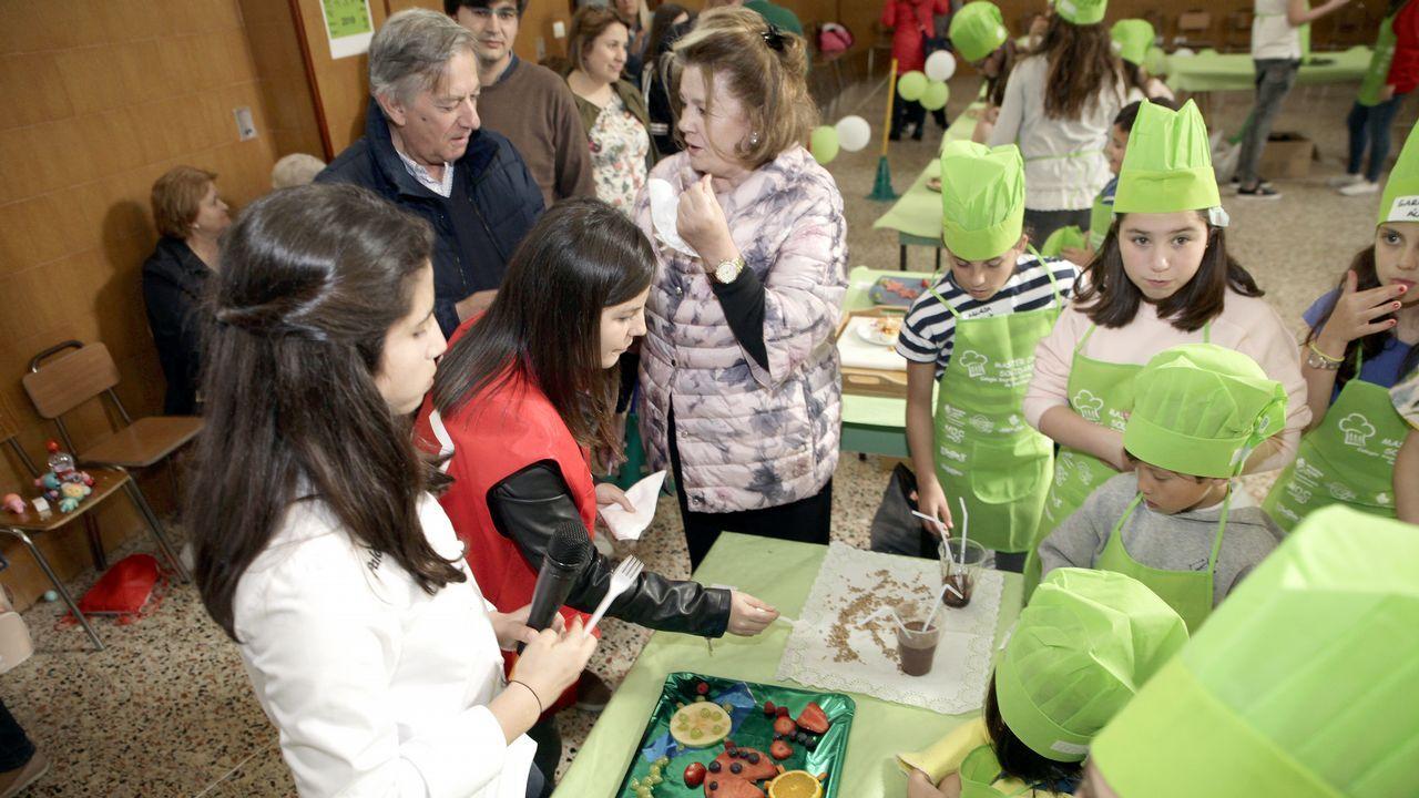 ¡Búscate en el concurso Master Chef Solidario del colegio de Castiñeiras!.Una de las aulas de Secundaria del Colegio San Miguel de Gijón
