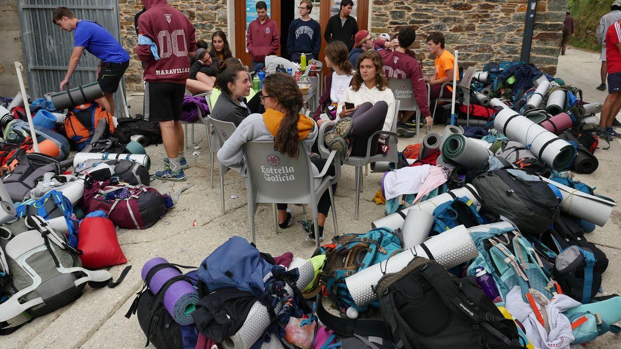 Excursión de instituto en La Laguna, antes de cruzar a Galicia