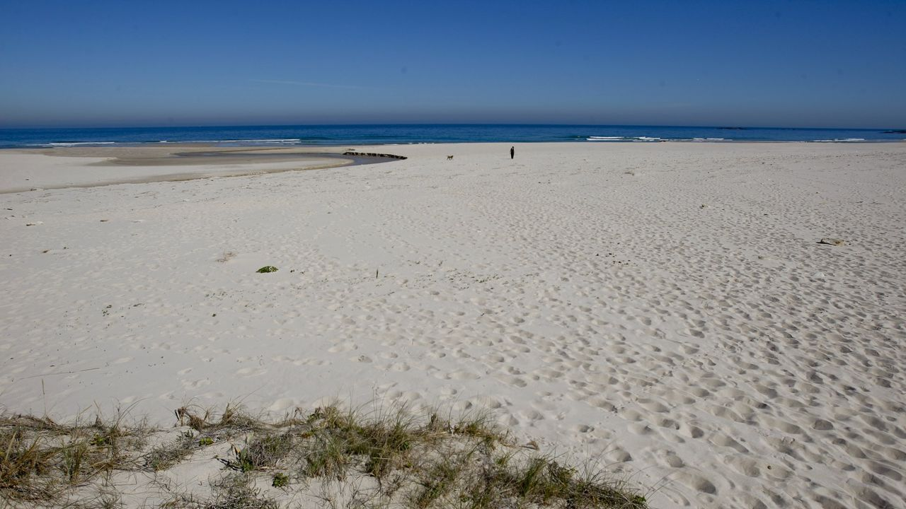 Playa de Traba, en Laxe