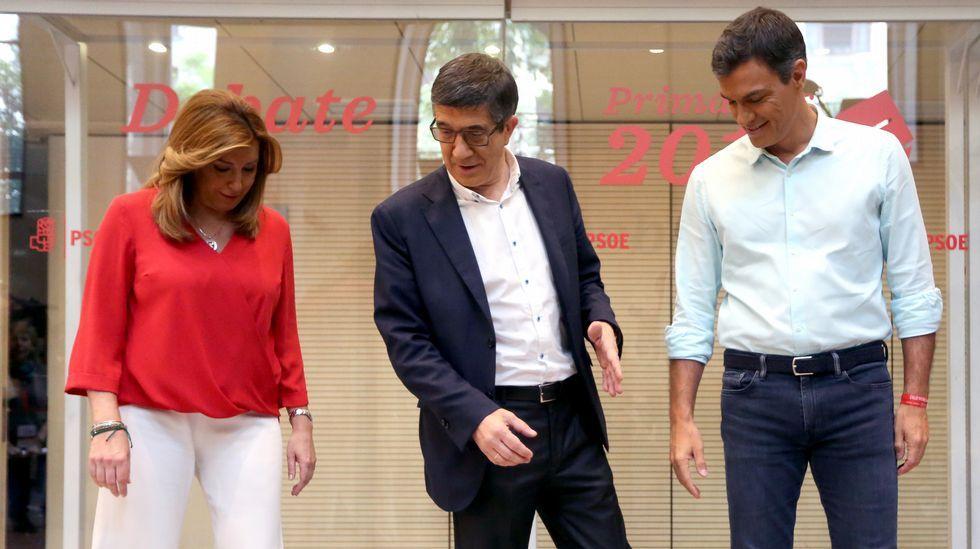 Diálogo sin concesiones en un debate bronco y tenso entre los candidatos del PSOE.La presidenta del Gobierno Balear, Francina Armengol