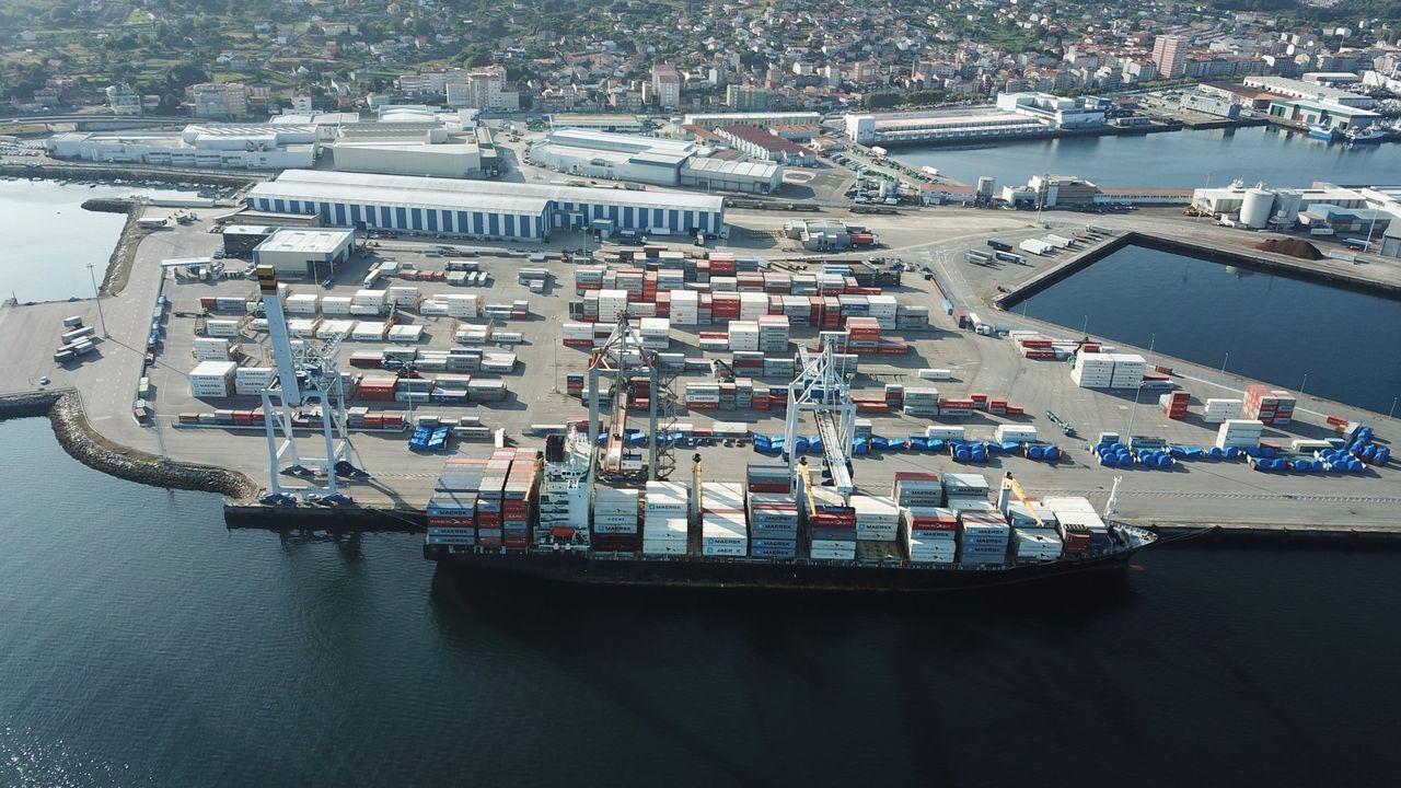 Imagen de archivo del puerto de Marín