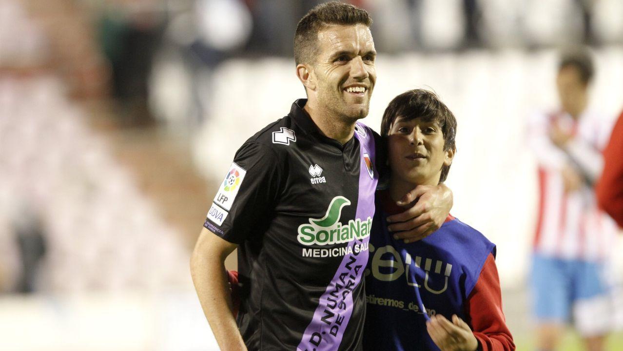 Saúl Berjón en el Ponferradina-Real Oviedo