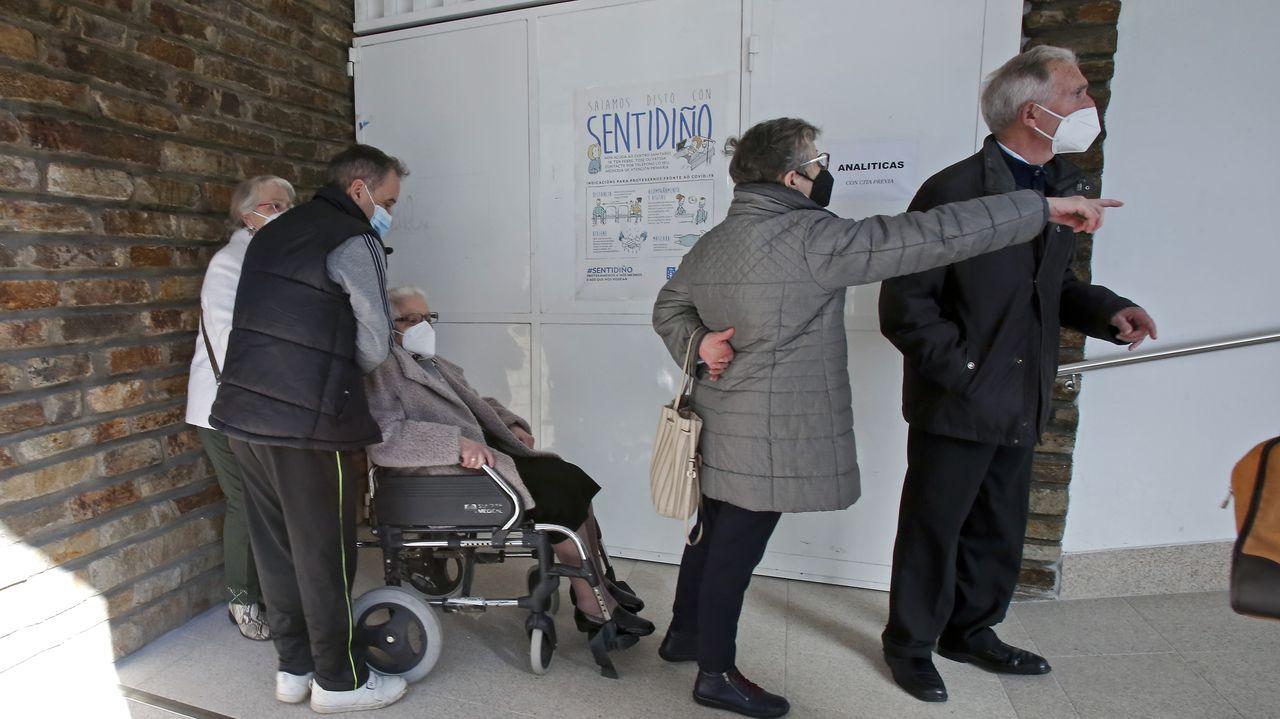 La vacunación de mayores de 80 años empezó en el área sanitaria de Pontevedra y O Salnés el pasado 22 de febrero