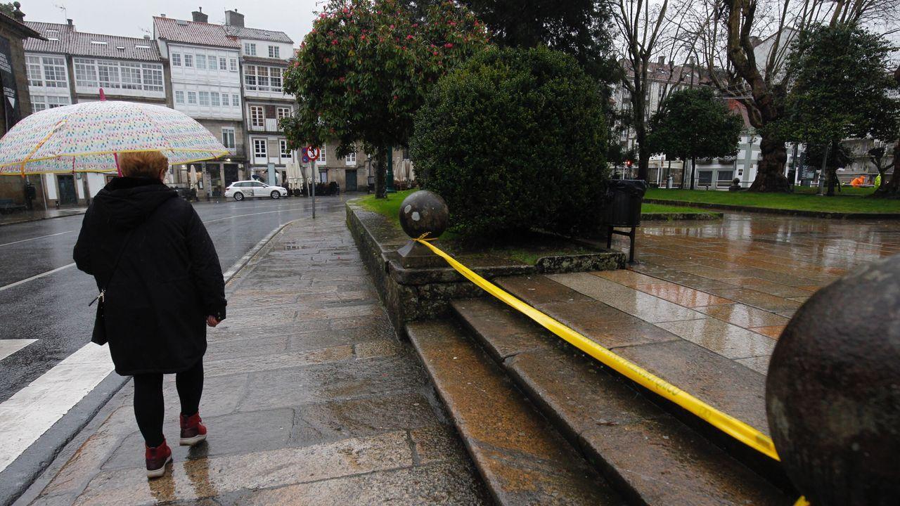 Así es el paso de la borrasca Brendan por Compostela