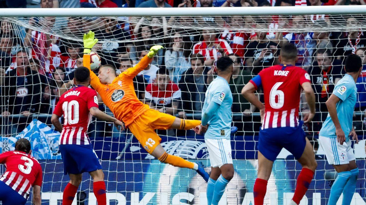Las mejores imágenes del Atlético - Celta.Comisión de festejos de Santolaya