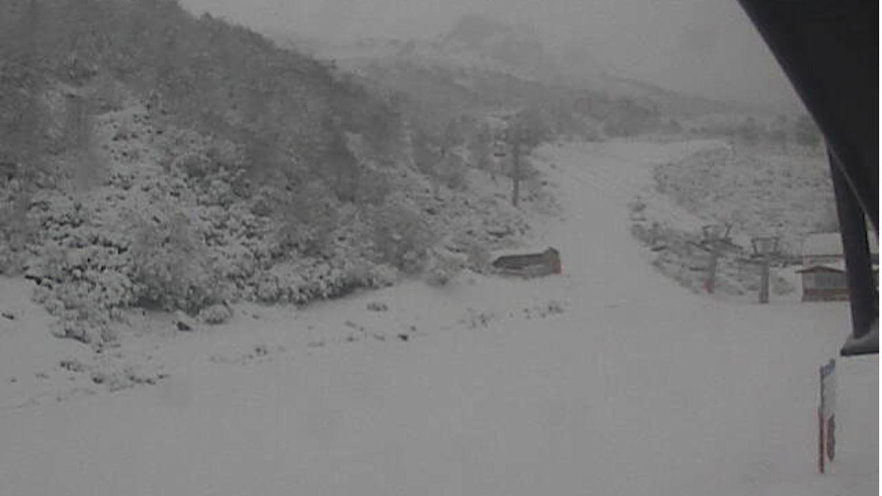 Nieve en Fuentes de Invierno.Estación de Valgrande-Pajares