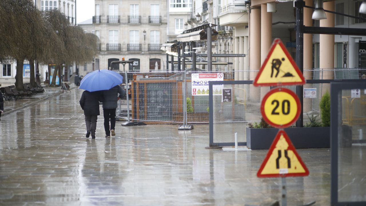 El centro de Lugo, vacío la tarde del domingo
