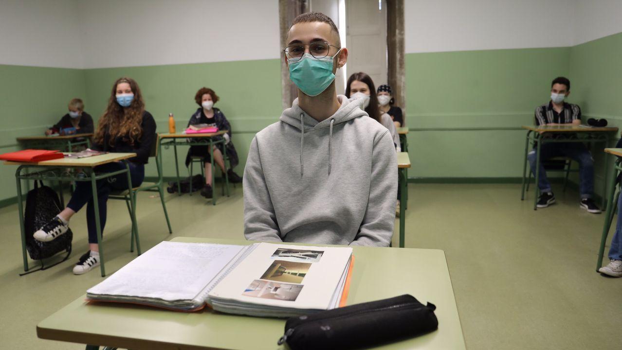 Estas imágenes son de Santiago, en el instituto Rosalía de Castro