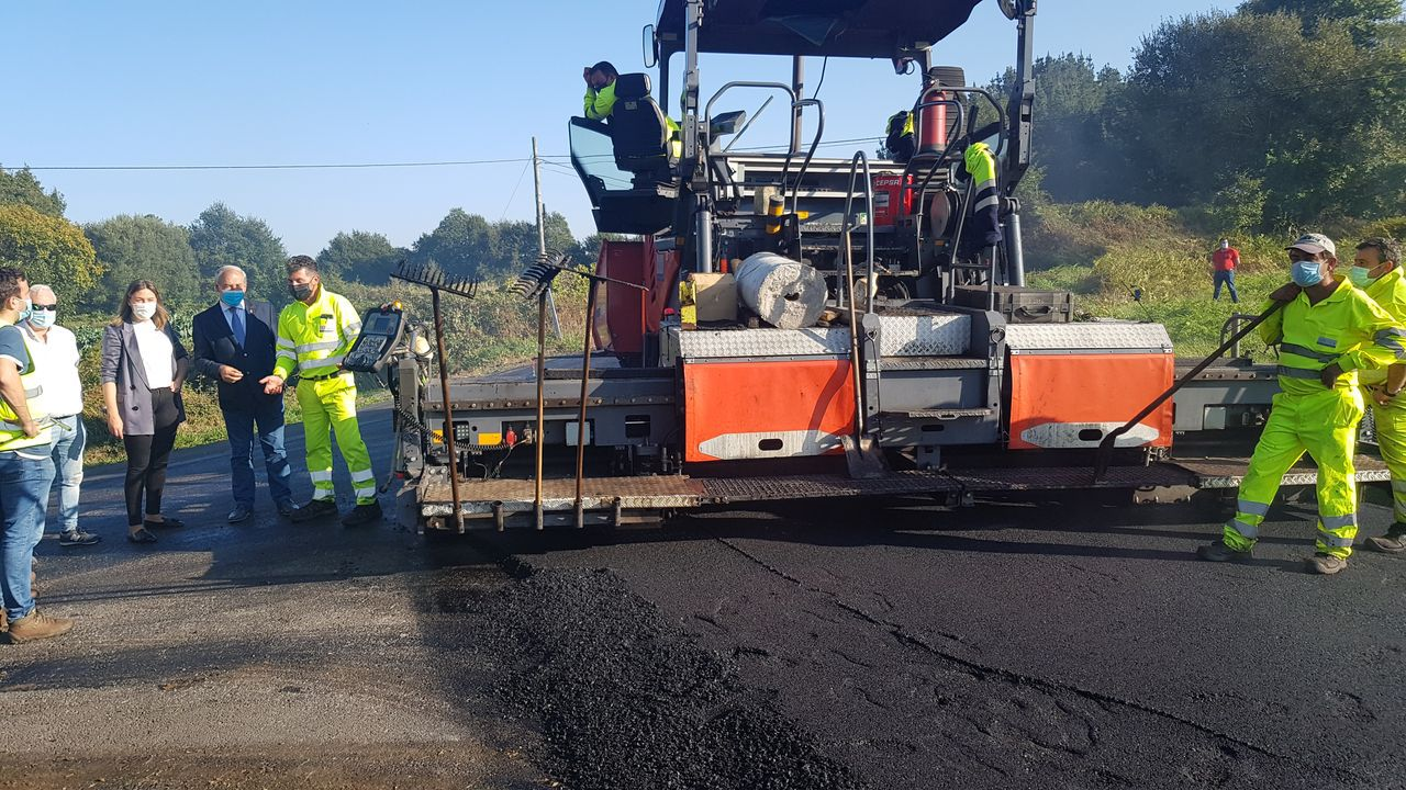 Mellora da estrada que une Antas con Frádegas por Santa Mariña e que executou Arias Infraestructuras con fondos da Deputación de Lugo