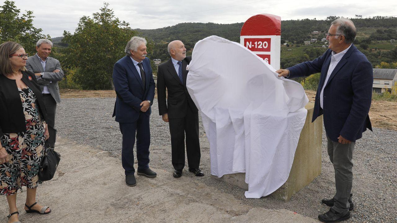 Aspecto actual de las obras en el enlace de la autovía con la N-540