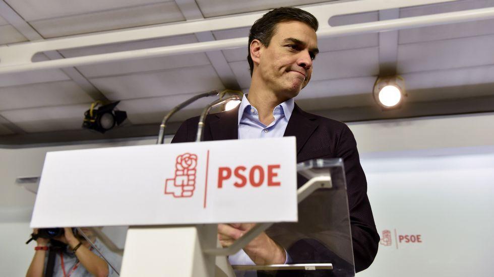El regreso de Irureta a A Coruña.Pedro Sánchez, anunciando su dimisión como secretario general del PSOE.